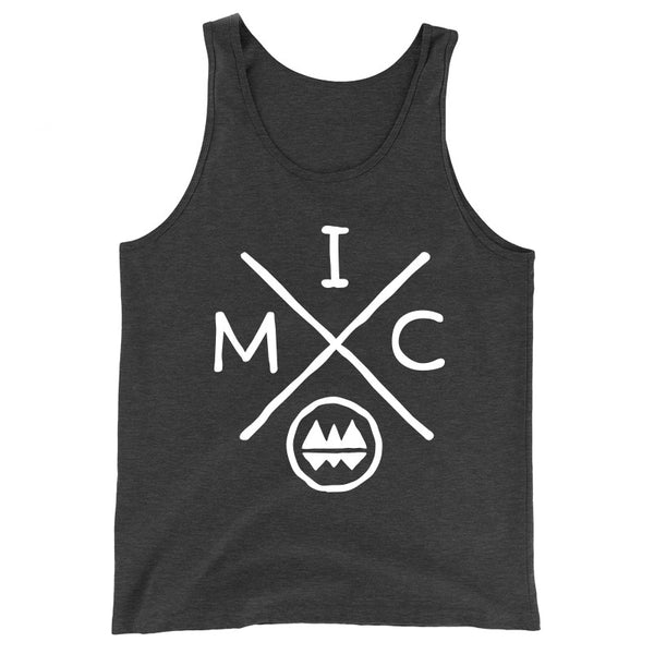 IMClimbing IMC Logo Design on Charcoal Tank Top - Men