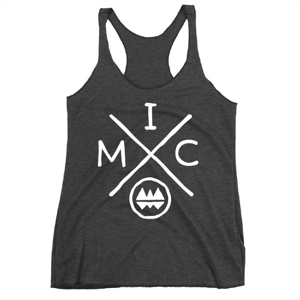 IMClimbing IMC Logo Design on Charcoal Tank Top - Women