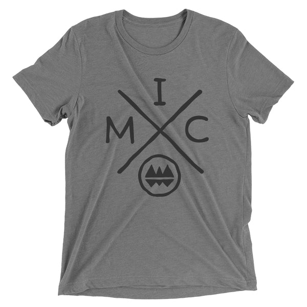 IMClimbing IMC Logo Design on Grey T-Shirt - Men