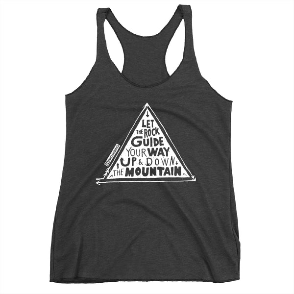 IMClimbing Rock Guide Design on Charcoal Tank Top - Women