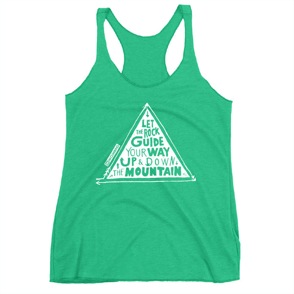 IMClimbing Rock Guide Design on Grass Tank Top - Women