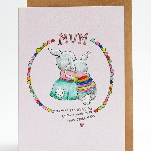 Loving me more / mother day greeting card