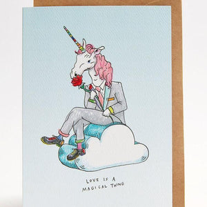 Love magical thing greeting card