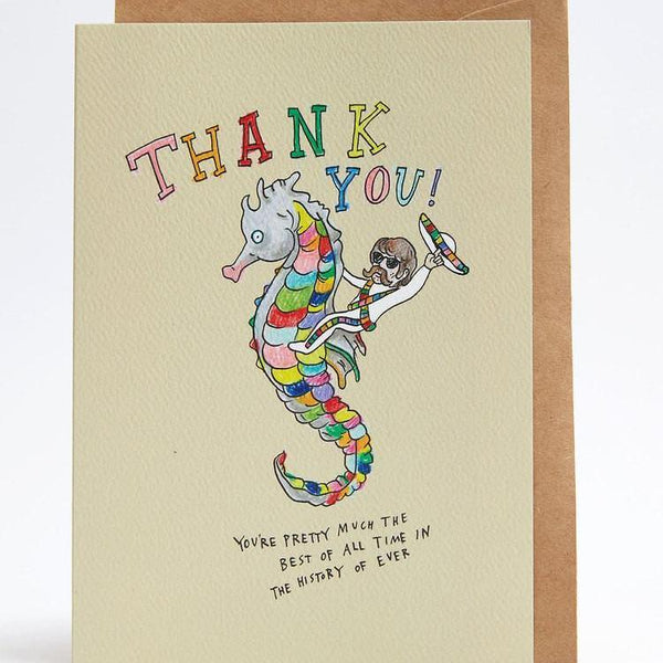 Thank you mexican seahorse greeting card