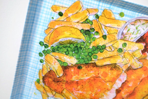 Fish n chips plate / platter