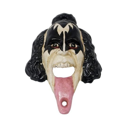 Vintage KISS music tongue bottle opener wall hook