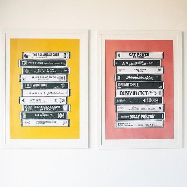 Cassette tape poster - Six Things - 1