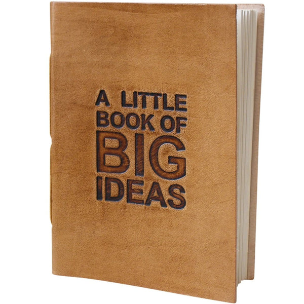 Little box big ideas leather journal / notebook