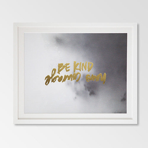 Be kind gold foil & watercolour print - Six Things - 1