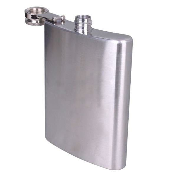 Plain metal hip flask - Six Things - 2