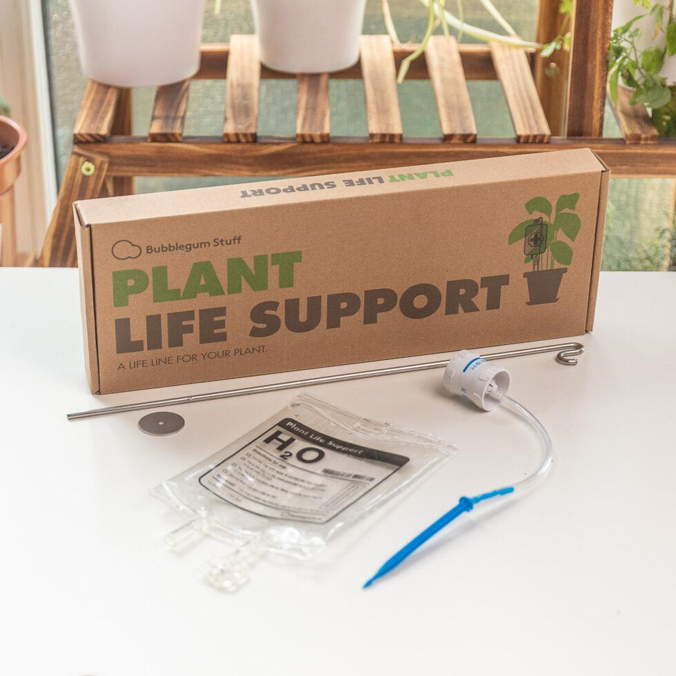 Serial plant killer pot life IV drip support system