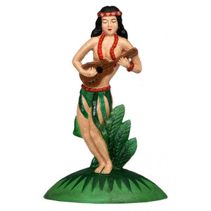 Hawaiian hula dancer garden ornament / bookend / door stop / statue