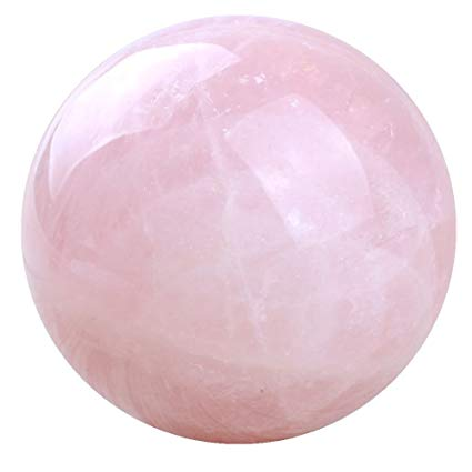 Rose Quartz crystal sphere ball