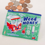Load image into Gallery viewer, Weed money purse /  Medical weed recycled plastic pouch / pencil case
