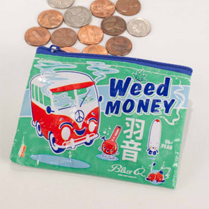 Weed money purse /  Medical weed recycled plastic pouch / pencil case