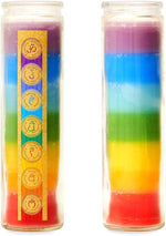 Load image into Gallery viewer, Good luck rainbow prayer candle