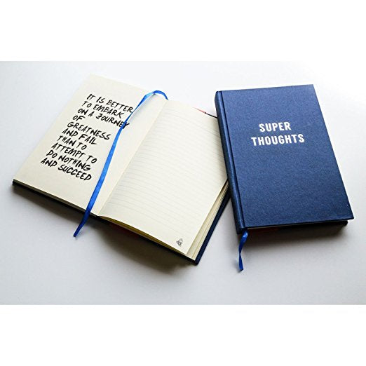 Super thoughts cloth covered inspirational journal