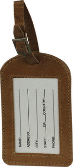 Load image into Gallery viewer, Not all who wander leather luggage tag