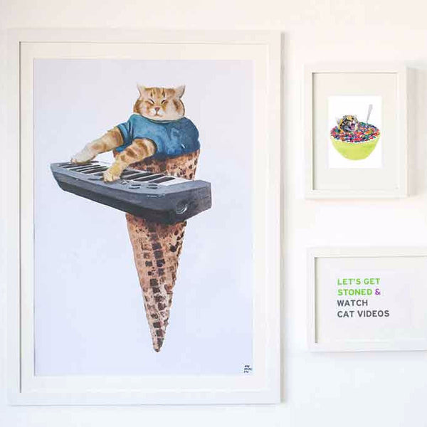 Fat cat piano cone poster - Six Things - 1