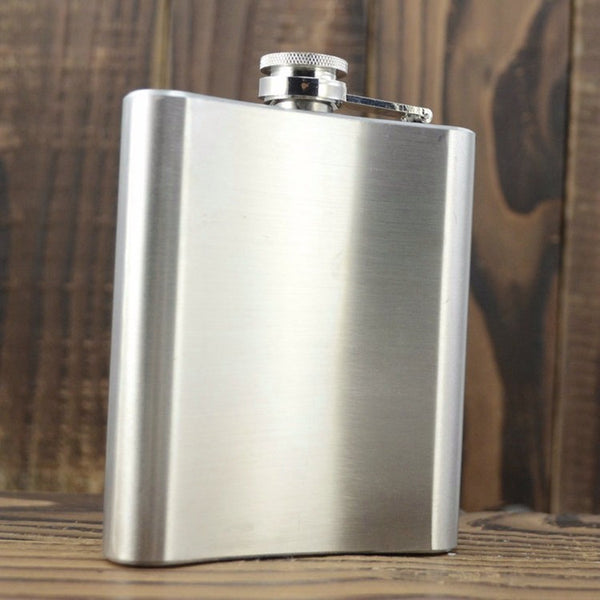Plain metal hip flask - Six Things - 1