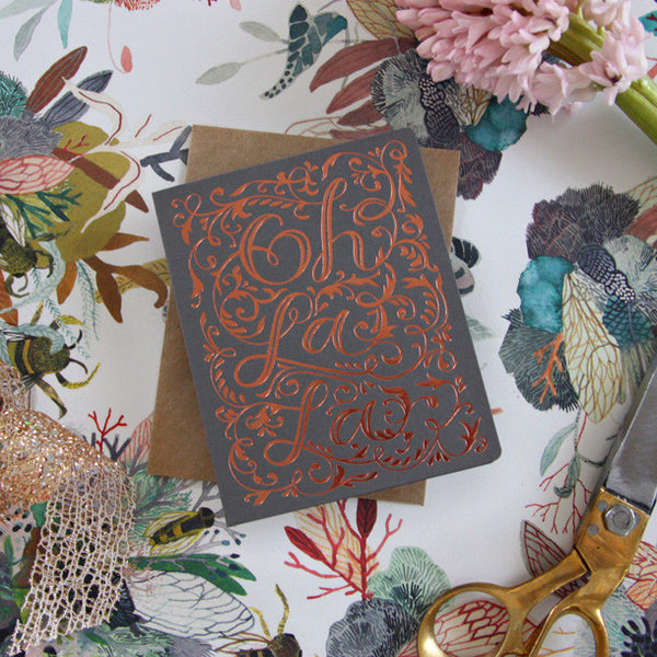Letterpress greeting card - Six Things - 10