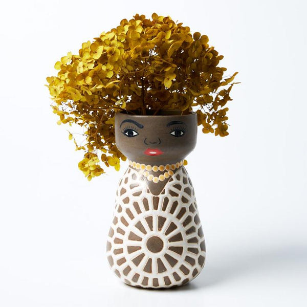 Oprah hand painted vase planter pot