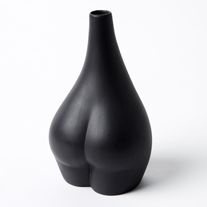 Handmade HER cheeky black bottom bud vase
