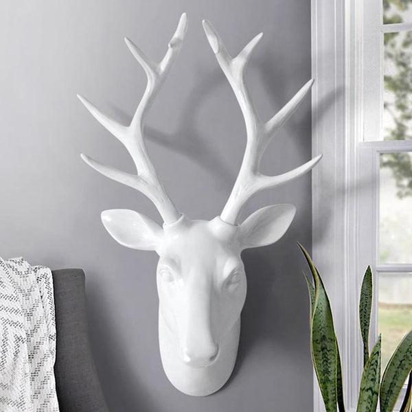Stag / deer antlers head mounted wall hanging