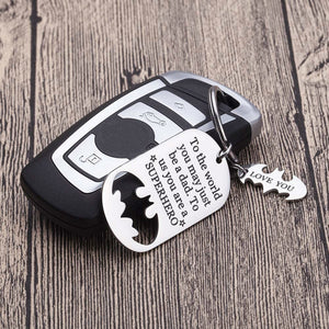 Dad batman superhero key chain / ring