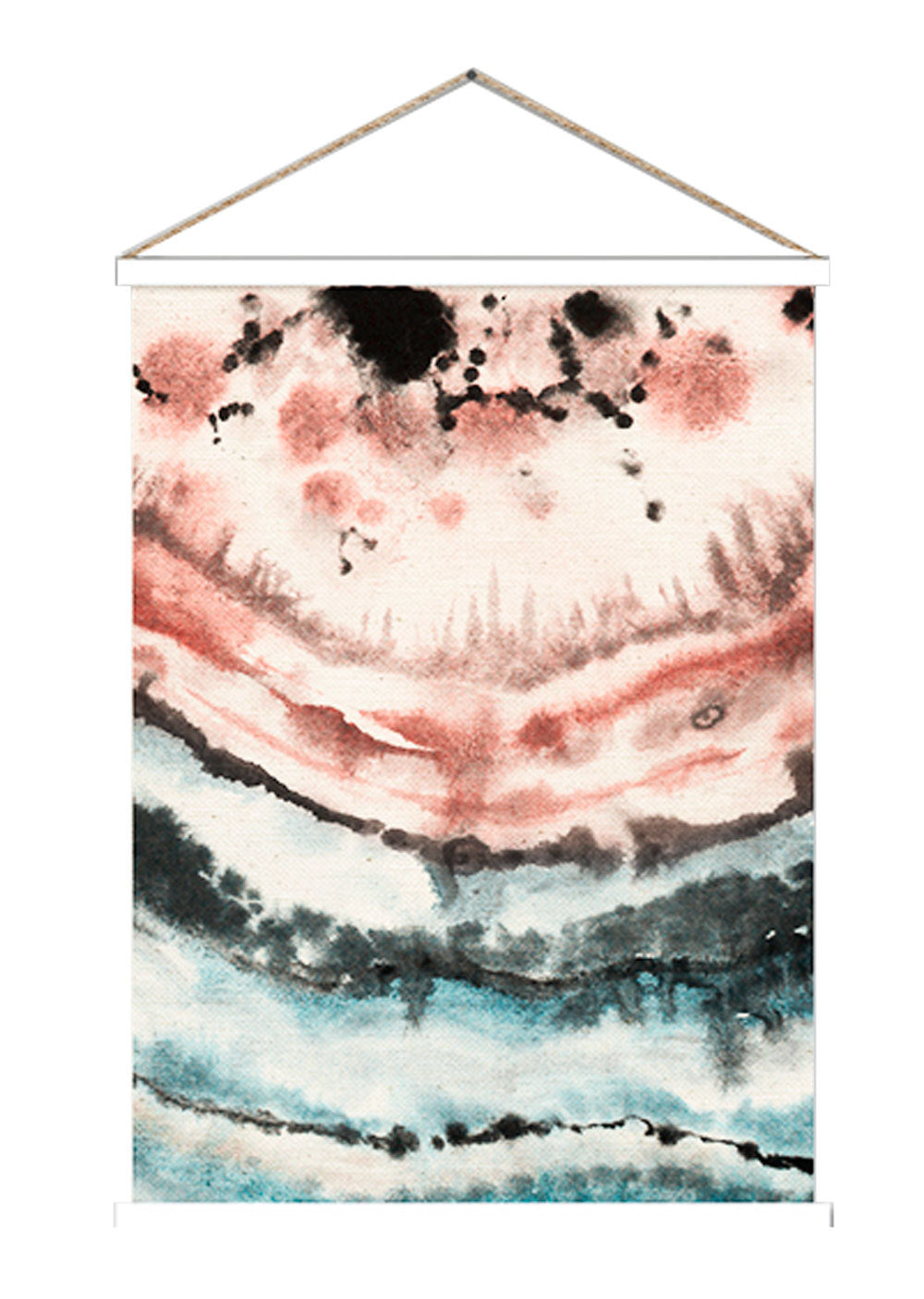 Watercolour crystal lines hanging scroll poster print