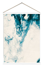 Load image into Gallery viewer, Ocean blue watercolour abstract hanging scroll poster print