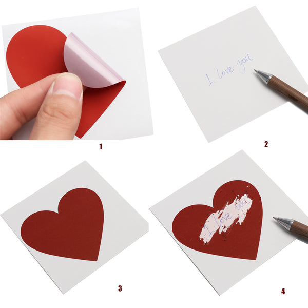 DIY heart scratchie / scratch off stickers