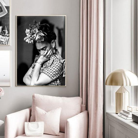 Frida Khalo monochrome canvas print