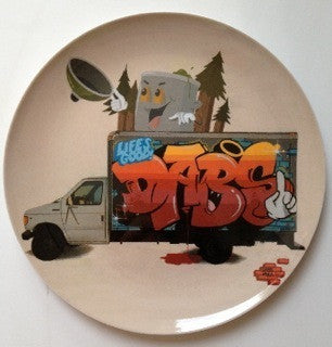Street art Dabs & Myla plate set of 2