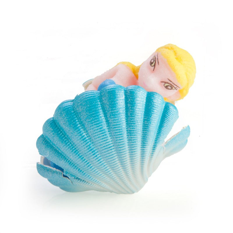 Grow a mermaid from a clam shell novelty toy