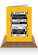 Load image into Gallery viewer, Cassette tape greeting card - Six Things - 8