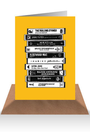 Cassette tape greeting card - Six Things - 8