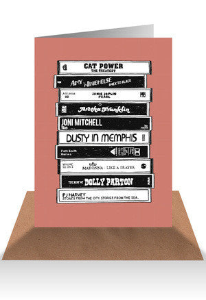 Cassette tape greeting card - Six Things - 9