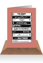 Load image into Gallery viewer, Cassette tape greeting card - Six Things - 9