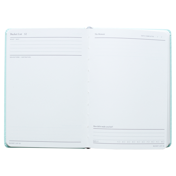 Bucket List notebook journal - mint