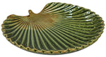 Load image into Gallery viewer, Green fan palm leaf trinket dish plate