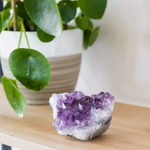 Load image into Gallery viewer, Amethyst crystal cluster geode statue - S / M