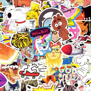 Pop culture sticker bomb pack