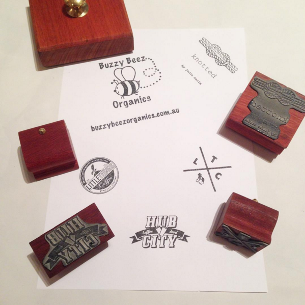 Custom made vintage style wooden stamp - Six Things - 3