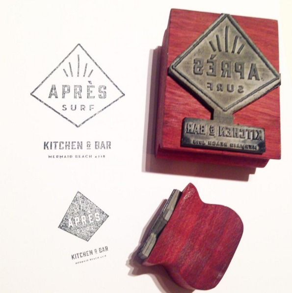 Custom made vintage style wooden stamp - Six Things - 7
