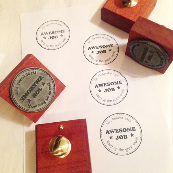 Custom made vintage style wooden stamp - Six Things - 10