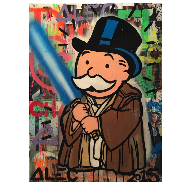 Street art banker jedi canvas print - Six Things - 1