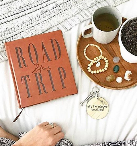 Road trip travel journal notebook