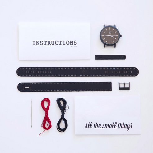 DIY handmade leather wrist watch kit