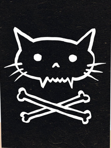 Pirate kitty cat poster print